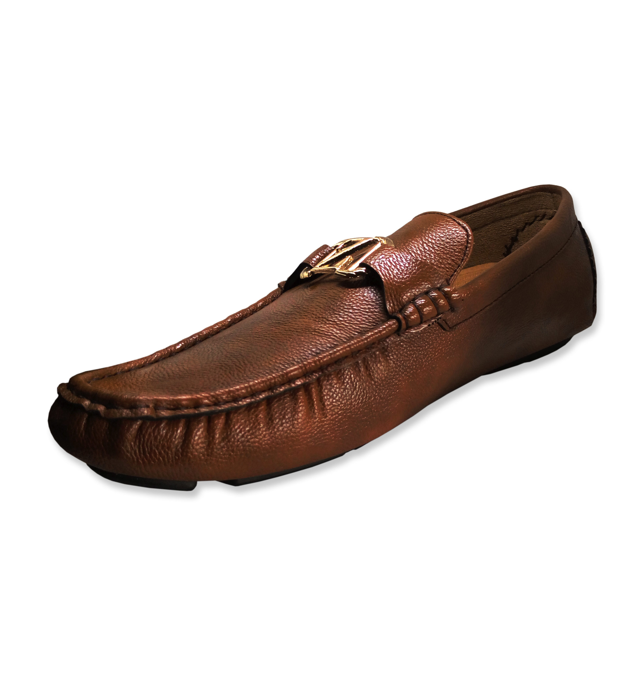 Leather Men Loafers Shoe B2718 Light Brown Zuba Online Mall